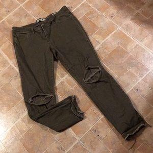 Rewash distressed skinny jeans size juniors 11